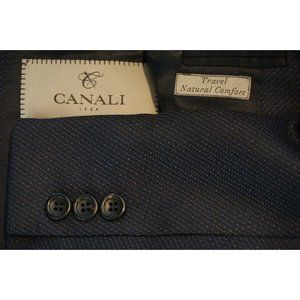 Canali 1934 Travel Natural Comfort Blue Woven suit